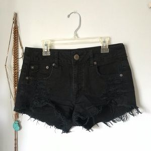 American Eagle Black Jean Shorts